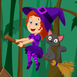 Cute Witch Rescue Game