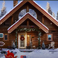 GFG Snowfall Christmas Cabin Escape