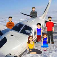 Plane Crash in Snow Escape