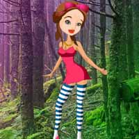 Teen Girl Forest Escape